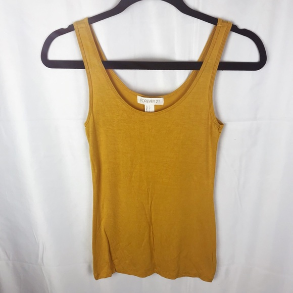 c4cd96937df42 Forever 21 Tops - Forever 21 Classic Mustard Yellow Tank Top NWOT